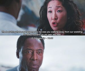 cristina yang, greys anatomy, and quote image