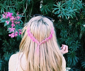 braided hair, pastels, and hair goals image