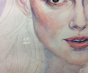 art, drawing, and watercolor image