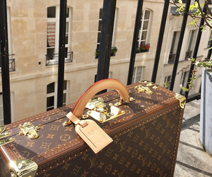 Louis Vuitton, travel, and bag image