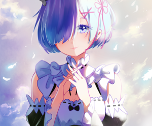 anime, rem, and арт image