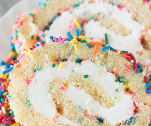 cake, cake roll, and cakes image