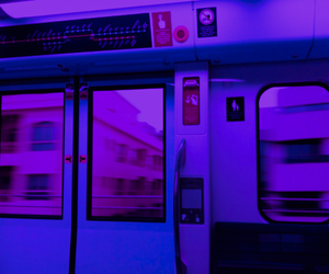 blue, aesthetic, and train image