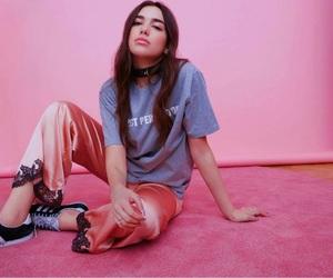 dua lipa, pink, and style image