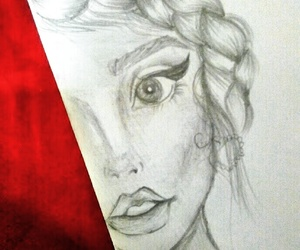 beauty, sketch, and artsy image