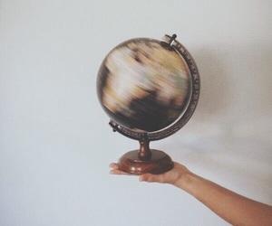 aesthetic, travel, and globe image