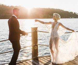 bride, joy, and lake image
