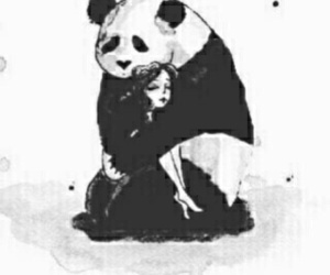 panda and love image