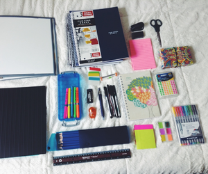 notebook, school, and school supplies image