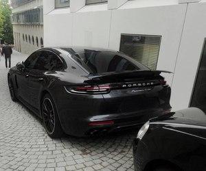 black, car, and porsche image