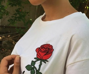 lips, red, and rose image