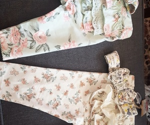 baby, flower, and babyclothes image
