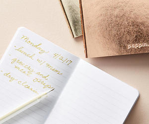 metallic, stationery, and notebook set image