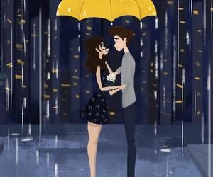 love and rain image