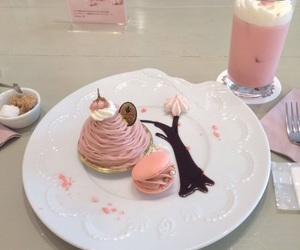 pink, food, and dessert image