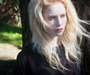 girl, pale, and albino image