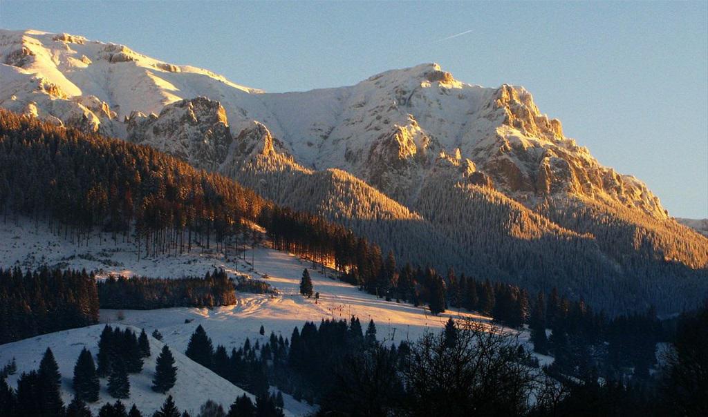 mountains, romania, and white image