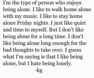 alone, lonely, and quote image