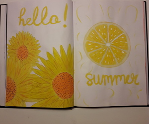 hello, yellow, and art image
