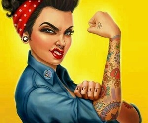 tattoo, Pin Up, and pinup image