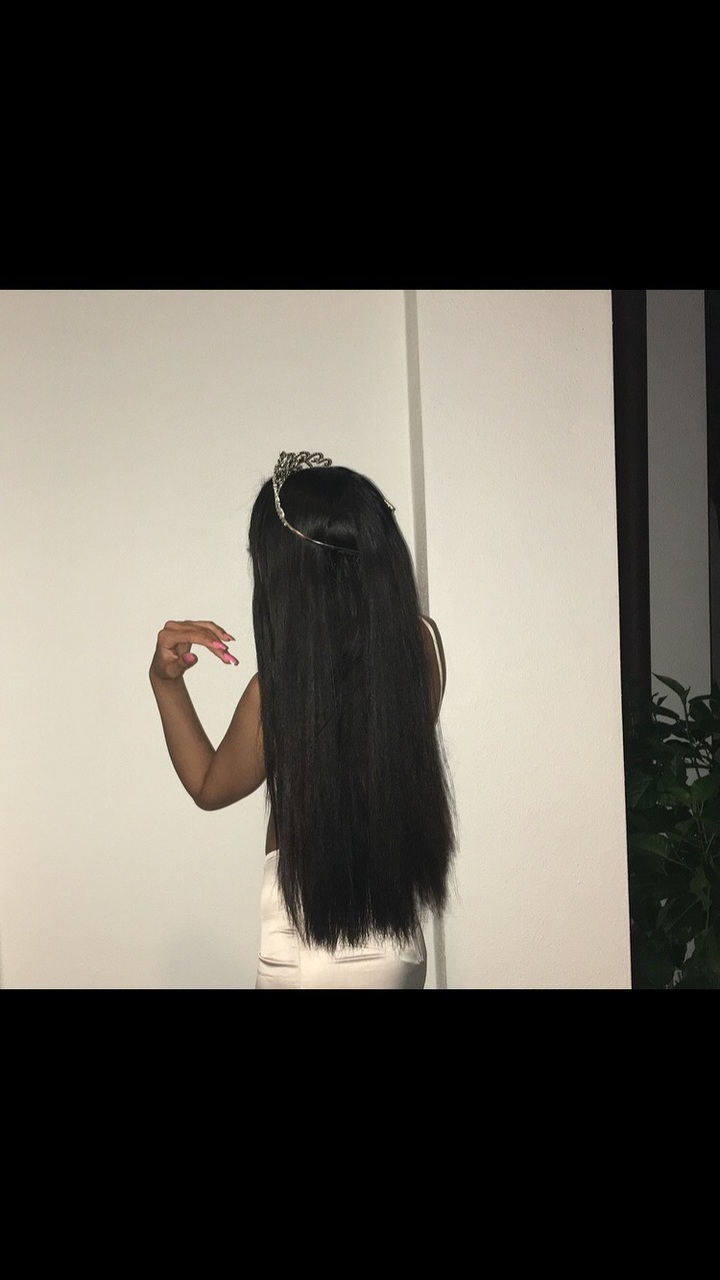 black, crown, and hair image