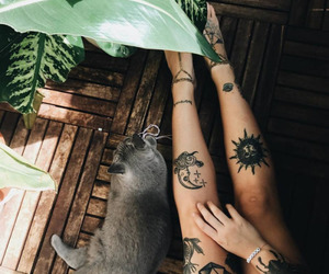 tattoo, cat, and grunge image