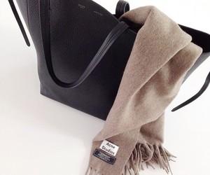 fashion, bag, and scarf image