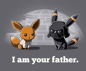 pokemon, darth vader, and eevee image