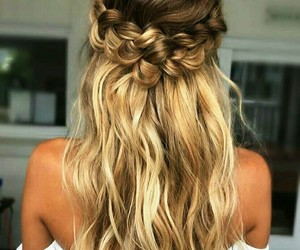 blonde hair, hairstyle, and braid image