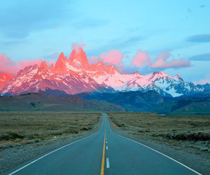 mountains, beautiful, and road image