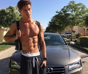 boy, car, and abs image