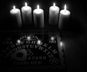 ouija, black and white, and candles image