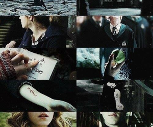hermione, slytherin, and dramione image