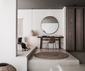 bedroom and mirror image