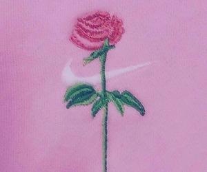 nike, pink, and rose image