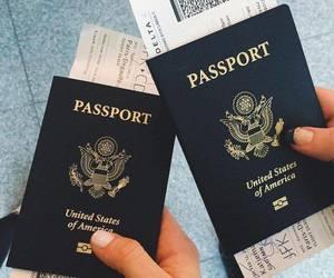 travel, passport, and goals image