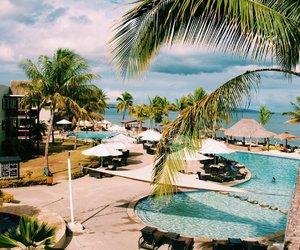 beach, fiji, and travel image