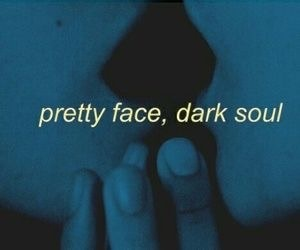 dark, demonic, and face image