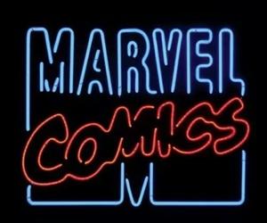 comics, Marvel, and neon image