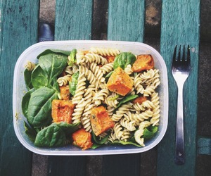 food, healthy, and pasta image