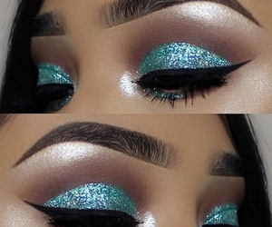 blue, eyeshadow, and goals image