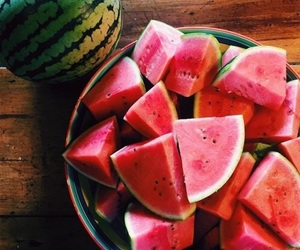 beach, sunshine, and watermelon image