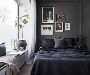 bedroom, art, and dark image