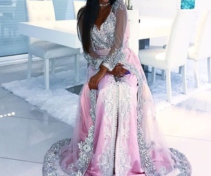 dress, pink, and robe image