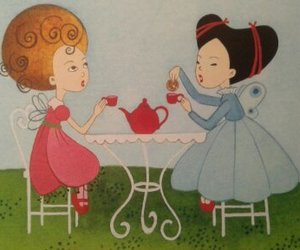 art, beautiful, and tea party image