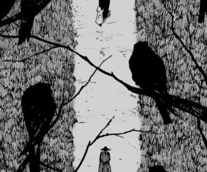 aesthetic, black and white, and manga image
