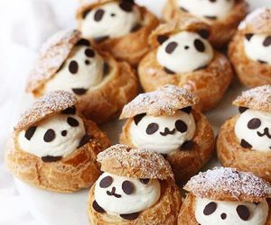 food, panda, and sweet image