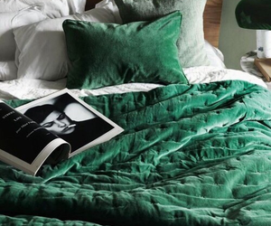 green, bed, and home image