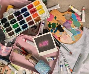 art, Brushes, and inspiration image