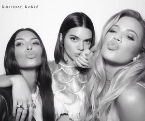 khloe kardashian, kim kardashian, and kendall jenner image